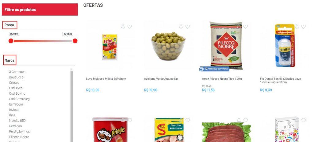 Página de ofertas na loja virtual do Cidade Canção.
