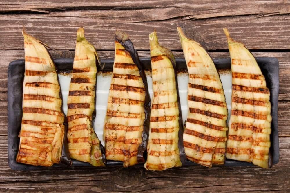 receitas simples de páscoa - berinjela grelhada