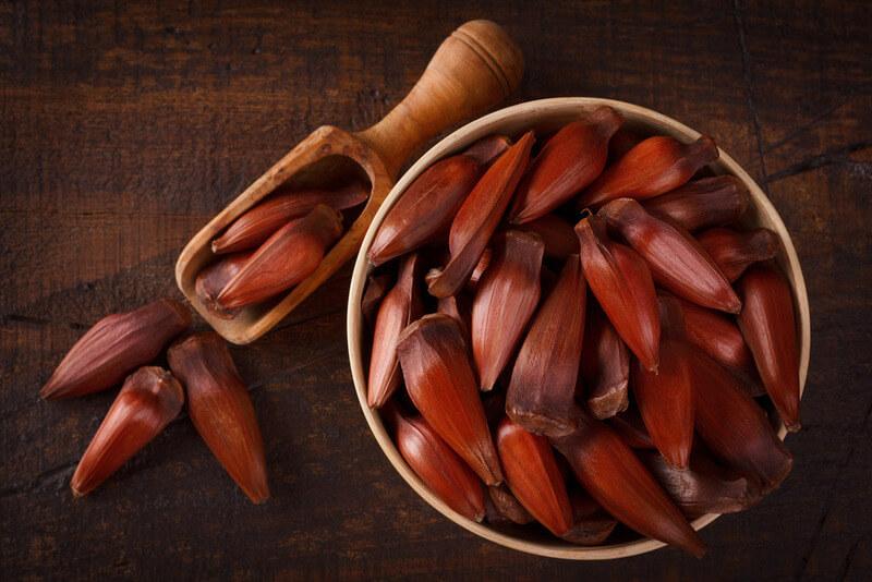 Pinhão servido em tigela pronto para ser ingerindo e levar os benefícios do pinhão para o corpo.