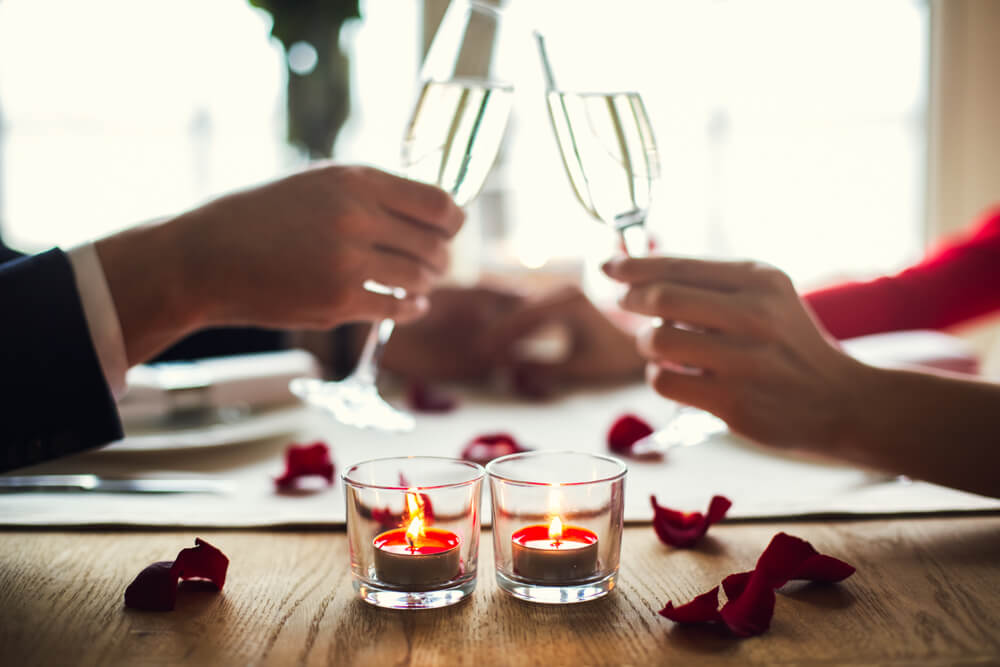 Decoração romântica para o jantar do Dia dos Namorados.