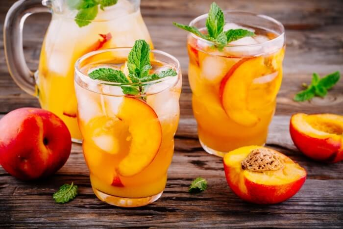 drinks de natal - coquetel de pêssego