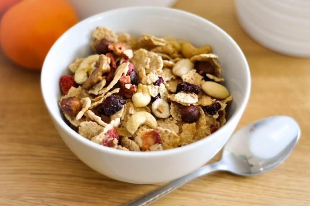 café da manhã leve - granola