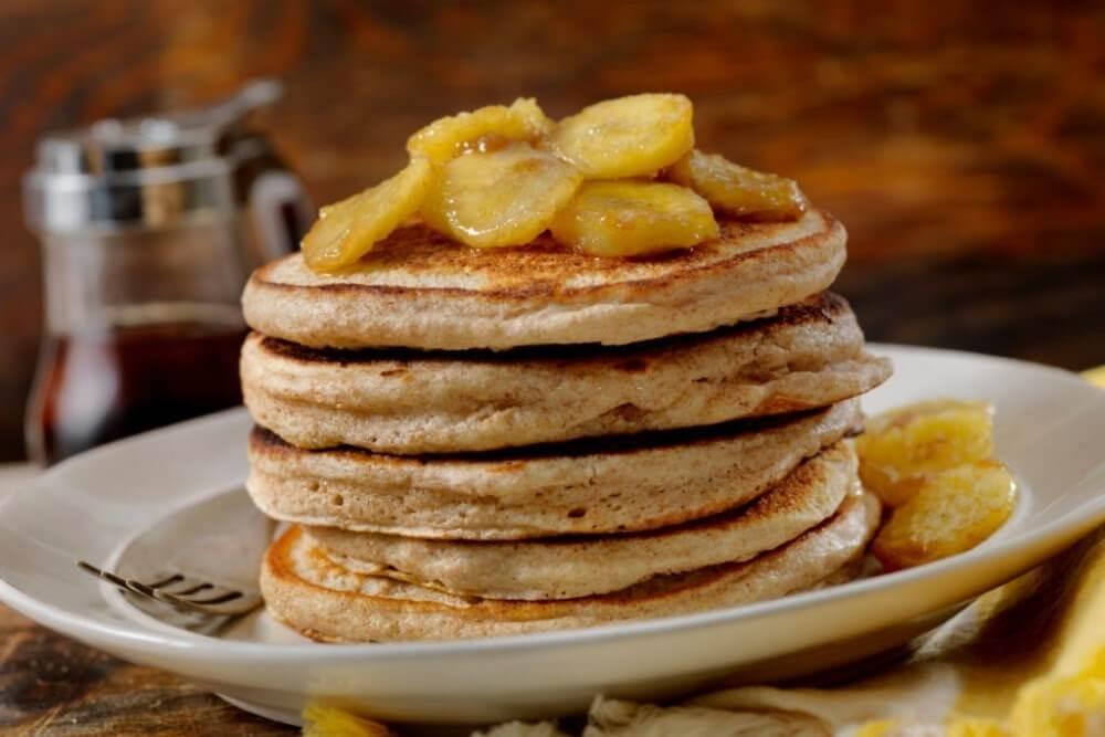 café da manhã leve - panqueca de aveia