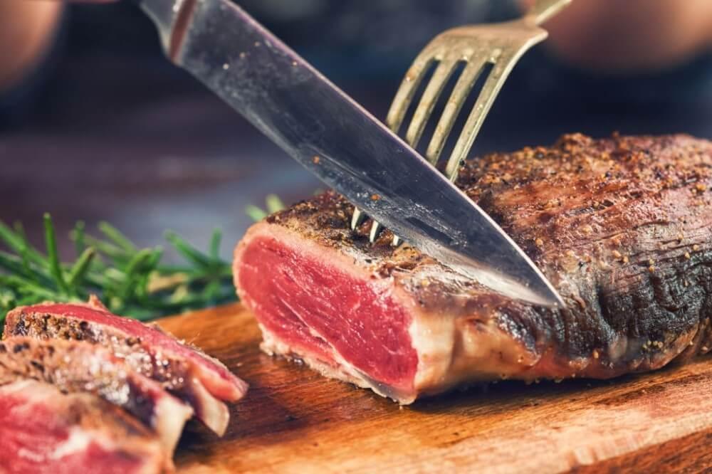 como saber o ponto da carne selada