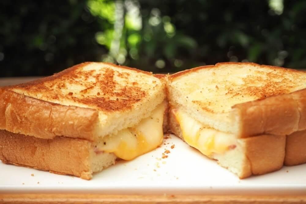 receitas básicas - sanduíche queijo quente