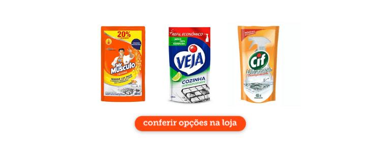 Clique para comprar desengordurantes para limpeza de cozinhas industriais no Cidade Canção online.