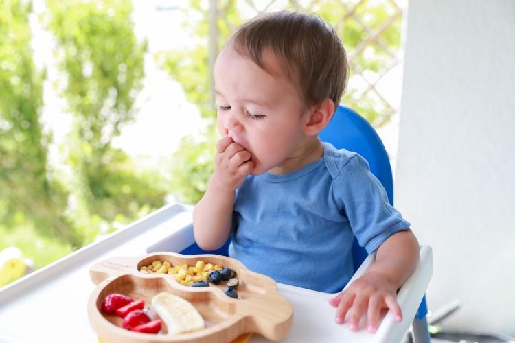 bebê se alimentando sozinho
